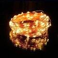 10 M 100 LED Solar Lámparas LED Hadas de la Secuencia Luces Guirnaldas de Luces Solares de Jardín de La Boda de Navidad Decoración Del Partido de Vacaciones Al Aire Libre