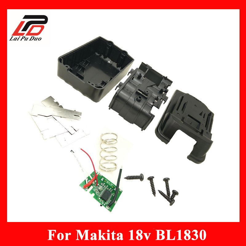 Replacement for Makita 18V BL1830 Circuit Board Lithium Ion Power Tools Battery Case BL1840 LXT400 BL1850 Plastic Shell free shipping new replacement power tool battery plastic case and hardwares for makita 18v bl1830 lithium