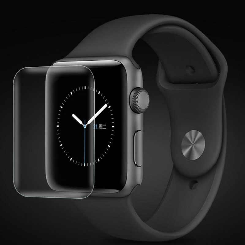 Funda para Apple i Watch 4 3 2 1 película protectora 38mm 42mm 40mm 44mm en el Protector de pantalla suave 38 40 42 44mm (no vidrio)