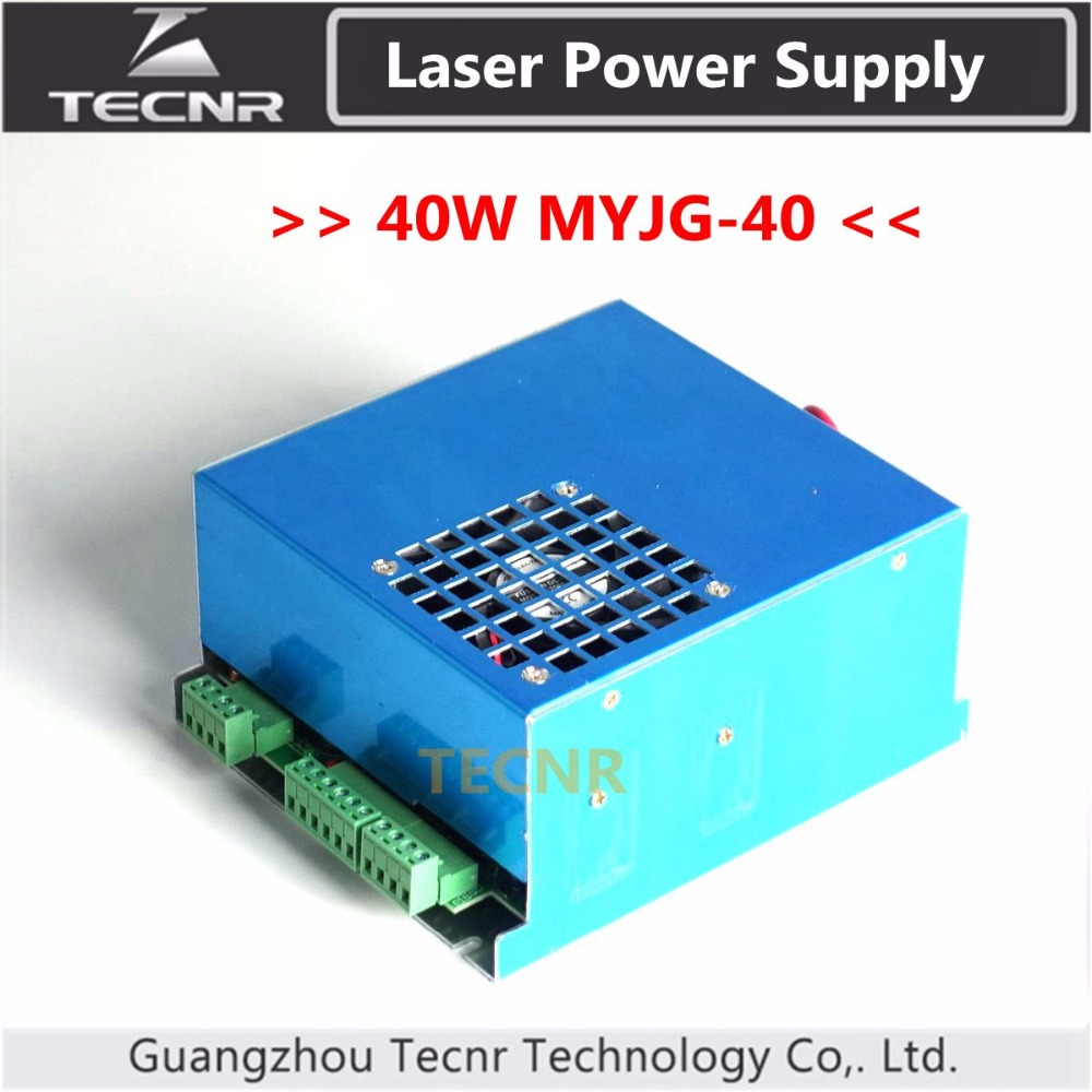 40W Laser Power Supply For CO2 Laser Engraving Cutting Machine 35-50W MYJG-40 50w co2 laser power supply for co2 laser engraving cutting machine myjg 50w