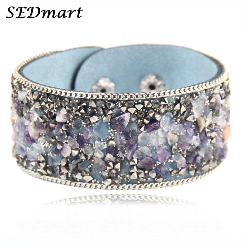 Raw Quartz natraul Stone Gems bijoux cristal réglable forme irrégulière Ring