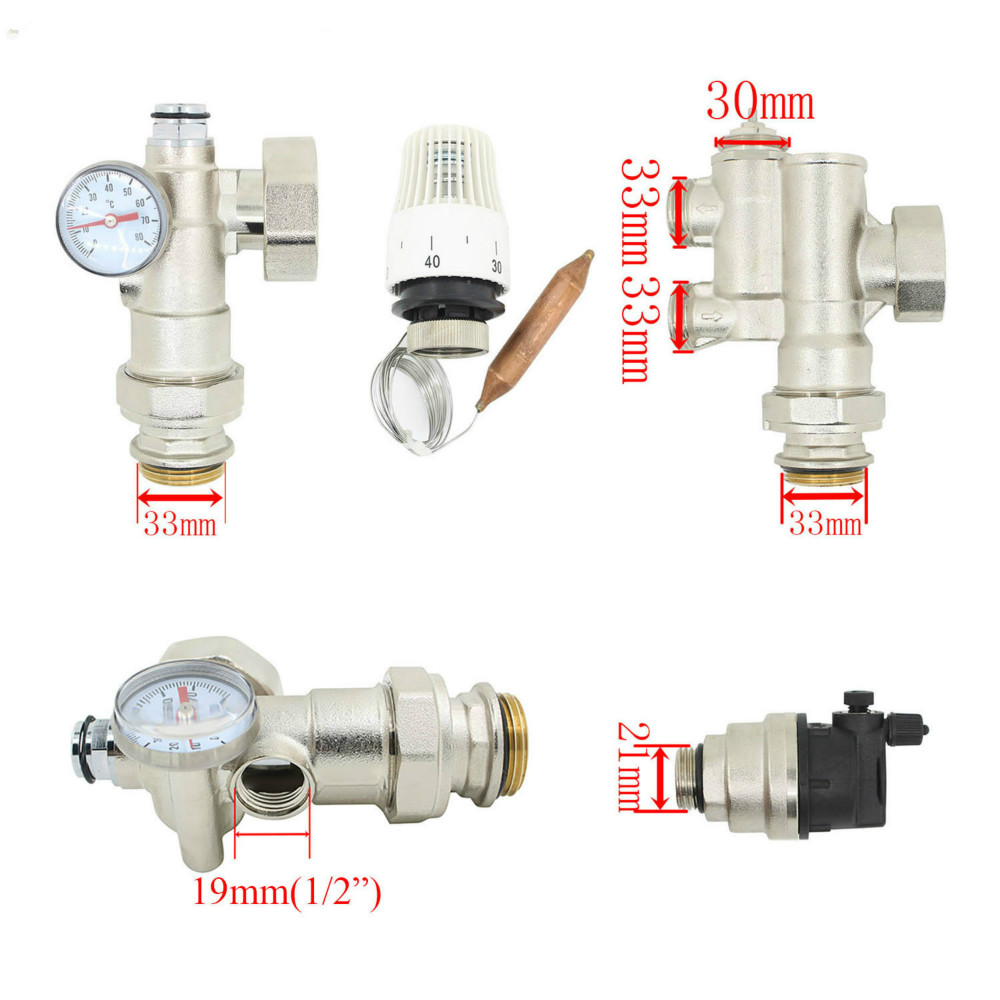 DN25 Thermostatic Pump Accessories Mixe Valve  For Water Underfloor Heating Manifold Mixing Valve