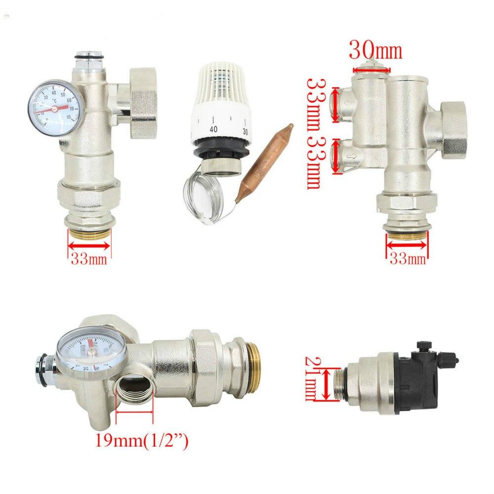 DN25 аксессуары для термостатического насоса смесительный клапан для воды подогрев пола смесительный клапан