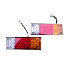 цена на 1 Pair LED Tail Lights for Trailers Trucks Engineering Vehicles RV 12V/24V