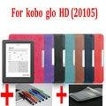 case for Kobo Glo HD 2015 Case Flip Leather Cover Case for Kobo Glo HD 6 inch, can fit kobo glo e-book eread+film+Stylus Pen
