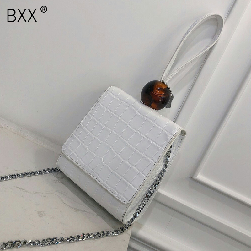 BXX 2019 Spring Summer Woman New Coffee Color Single Handles Spliced PU Leather Single Strap