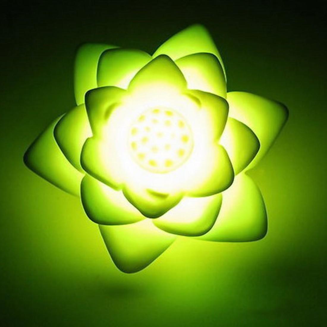 Светодиодный ночник Романтическая любовь настроение лампа Цветок лотоса ночник Цвет Изменение цветок лотоса украшения дома ...