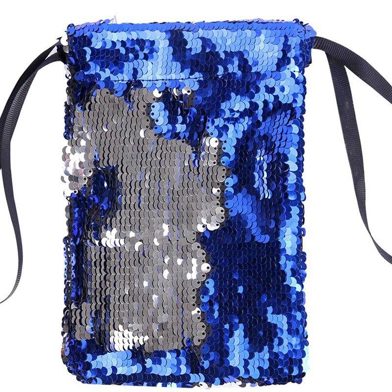 Обувь для девочек со стразами, отделение для хранения монет, держатель для карточки-ключа Организатор сдачи с симпатичным узором в горох для денег Портативный маленькие кошельки сумка чехол - Цвет: Sapphire blue silver