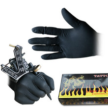 High Quality 100 Pcs Tattoo & Body Art Black Disposable Tattoo Latex Gloves Accessories Latex Tattoo Gloves Disposable
