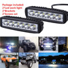 2PCS Universal Car Boat Truck 18W Flood LED Light Work Bar Lamp Driving Fog Offroad SUV