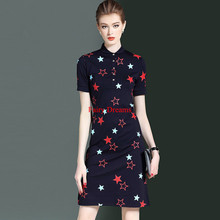 Fairy Dreams Women Shirt Dresses White Blue Star Print Summer Dress 2017 New Style Fashion Plus Size Clothing vestidos de festa