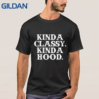 Character T Shirt O Neck Short Sleeve Kinda Classy Kinda Hood Grey Tee Shirts Sale Clothes