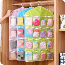 High Quality Polyster 16 Pockets Wardrobe Hanging Organizers Washable Door Wall Hanging Storage Bag 75×40.5cm Free Shipping