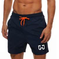 Praia dos homens calções de natação curto surf maillot de bain esporte calções de bordo bermuda roupa de banho dos homens correndo esportes shorts