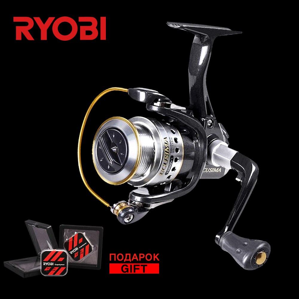 RYOBI ECUSIMA Spinning Reel 1000-8000 Saltwater Power Fishing Wheel 5BB 5.1:1 Gear Ratio Aluminium Handle Right Left Spin Reels ryobi kreger 1000