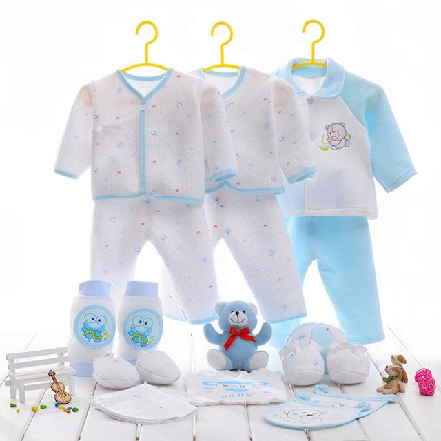 Da vuelta-abajo 21 unids/set total new born baby boy ropa de algodón materiales casuales bebé recién nacido arropa el envío libre
