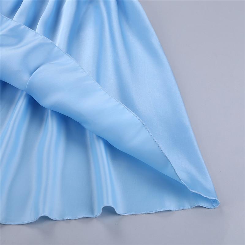 Sky Blue Color Satin Unisex Lounge Sleep Pajama Pants Adult Women Sissy Maid NEW