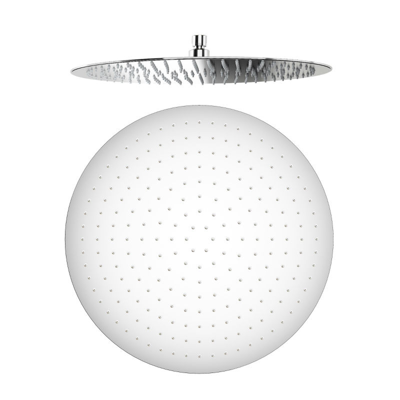 Round SHOWER HEADS High quality 16 inch Large Chrome Mixer Rainfall Rotatable Stainless Steel bathroom Nozzle Panel 03 221
