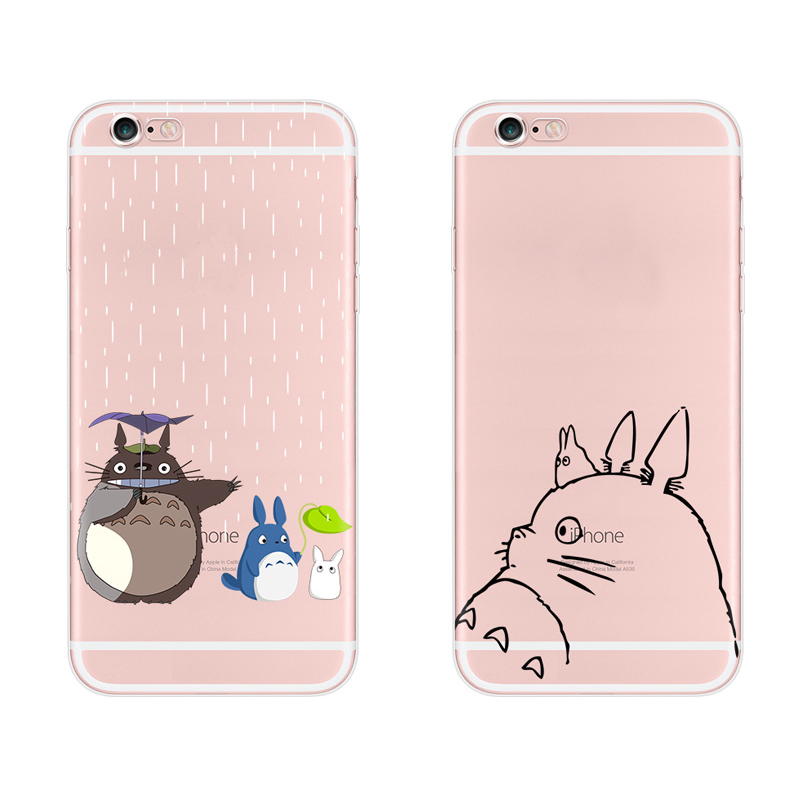 Cute Totoro Soft Tpu Case For Apple Iphone 6 6s Cover Alien Middle Finger Cat Transparent 960x960