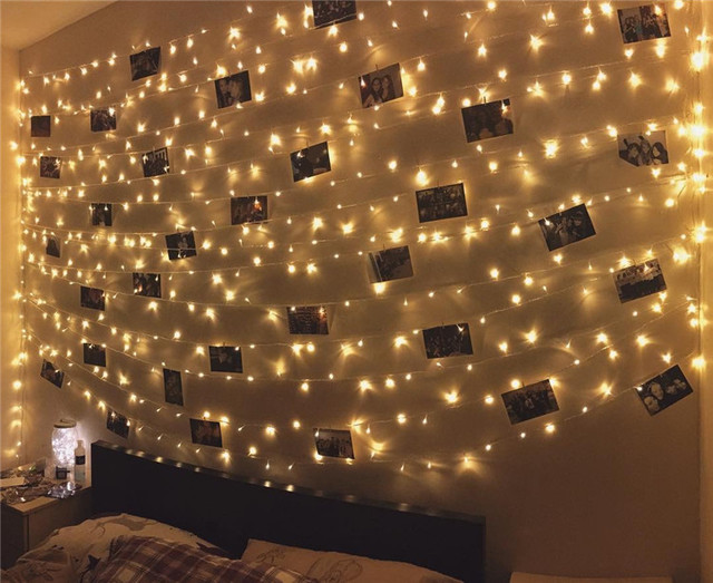 Christmas string wall light battery operated10M 100LEDs mini led ...