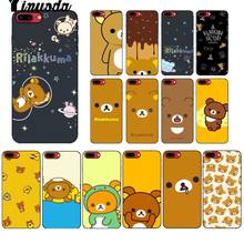 Yinuoda Leuke Rilakkuma Painted Tpu Zachte Siliconen Phone Case Cover Voor Apple Iphone 8 7 6 6S Plus X xs Max 5 5S Se Xr Cover(China)