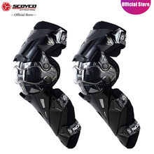 SCOYCO Motorcycle Knee Protector Hard Collision Avoidance Motocross Motorbike Knee Protector Supportive Cycling Knee Shin Guard(China)