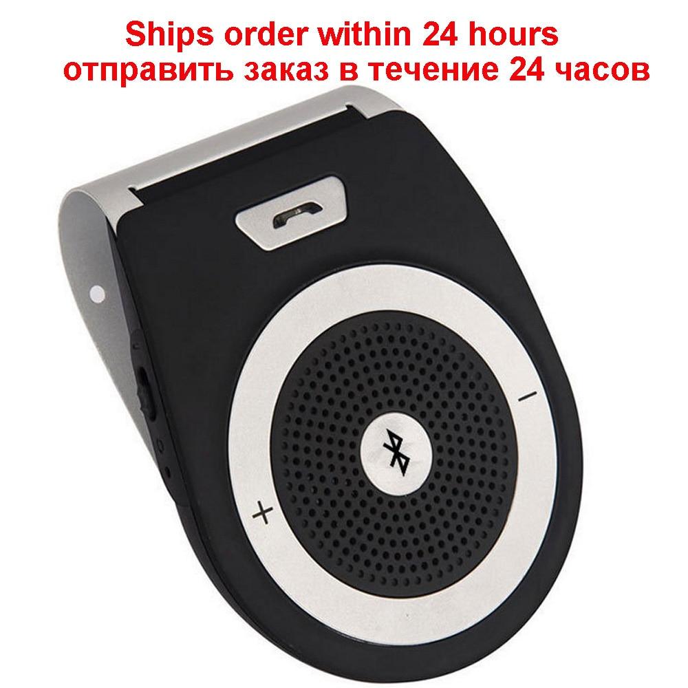 Bluetooth Car Kit הדיבורית Bluetooth ביטול רעש V4.1 Multipoint לרכב רמקול מקלט קליפ מגן שמש עבור שני טלפונים