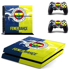 Fenerbahce Spor Kulubu Football PS4 Skin Sticker Decal Vinyl for Sony Playstation 4 Console and 2 Controllers PS4 Skin Sticker