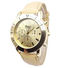 Paradise 2016 New Pattern Leather Band Quartz  Wrist Three Men and women Watches Free Shipping Apr13