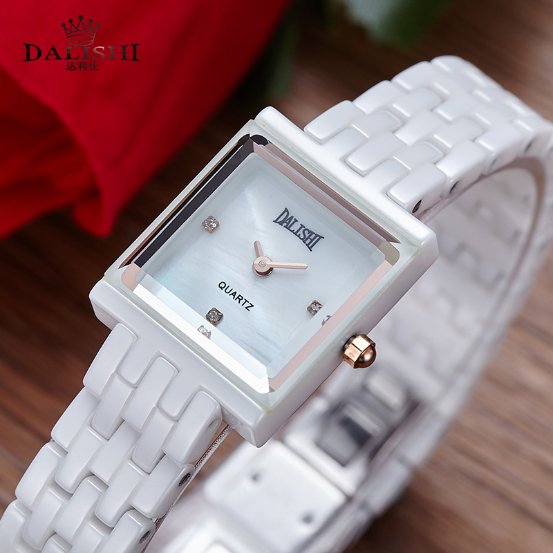 DALISHI Brand Ladies Watches Women Fashion Quartz Wristwatch Girl Fashion Casual Two Needle Simple Square Dial Clock Reloj Mujer dalishi brand ceramic ladies charm watch fashion casual reloj mujer quartz watches fashion business male clock montre homme