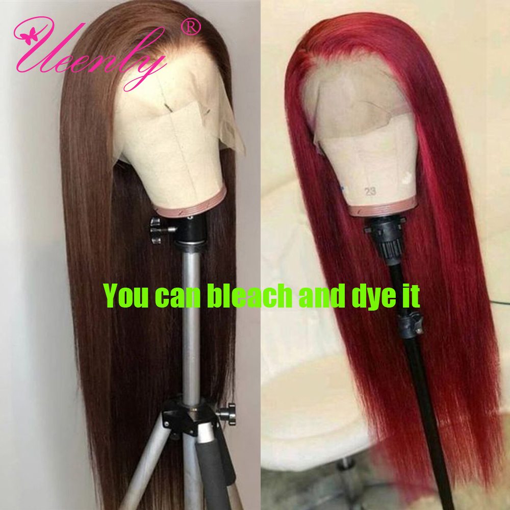 UEENLY 13x4 Lace Front Human Hair Wigs Brazilian Straight Human Hair Wigs 360 Lace Frontal Wig Pre Plucked 4x4 Lace Closure Wigs 5