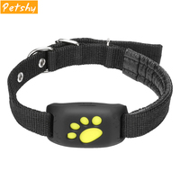 Petshy Pet GPS Tracker Dog Cat Water Resistant GPS Callback Function USB Charging GPS Trackers Smart Anti Lost Pet Collar
