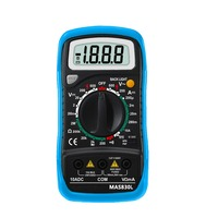 MAS830L 2000 słowa małe ręczny cyfrowy multimetr z przypadku Fabryki sprzedaży bezpośredniej
