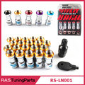 20 Pcs Volk RAYS Racing Formula Nut Set Wheel Lug Nut M12x1.5 or M12x1.25 L=45mm Black Red Gold Purple  RS-LN001