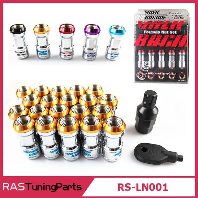 20 Pcs Volk RAYS Racing Formula Nut Set Wheel Lug Nut M12x1.5 or M12x1.25 L=45mm Black Red Gold Purple  RS-LN001