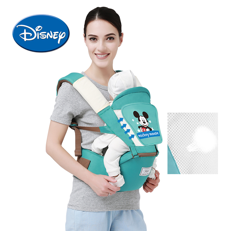 Disney Baby Carrier Ergonomic Toddler Backpack Hipseat For Newborn Baby Kangaroos Breathable Front Facing Carrier недорго, оригинальная цена