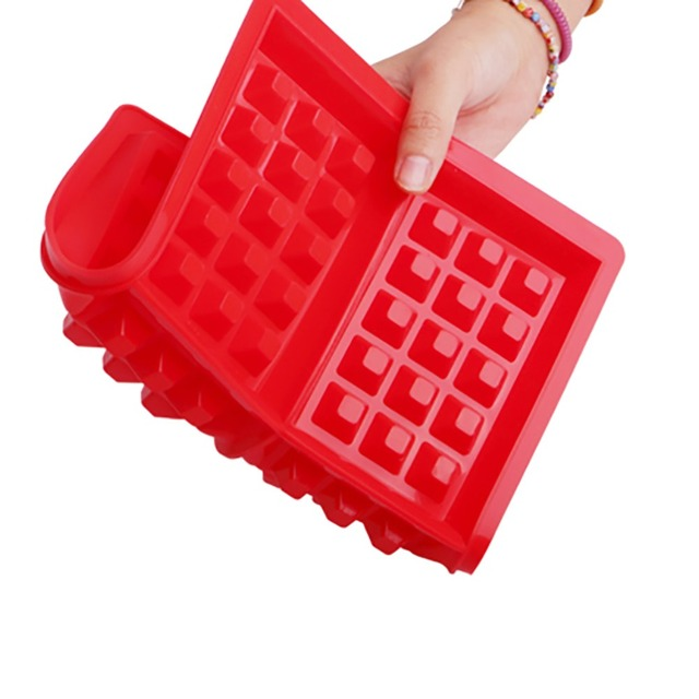 Non-stick Waffle Mold Silicone Waffle Maker Kitchen Bakeware Chocolate Pot Fudge Candy Fondant Baking Mold Cake Decorating Tool
