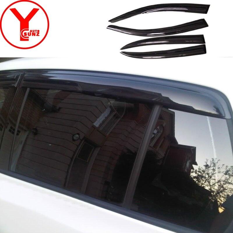 2011-2018 déflecteurs de fenêtre de vent latéral pare-brise de voiture pare-brise sur les fenêtres accessoire pour volkswagen JETTA 6 2012 2016 2017 YCSUNZ - 4