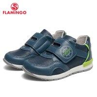Брендовые кожаные стельки с Фламинго; сезон весна лето; дышащая детская прогулочная обувь; размеры 23 28; детские кроссовки для мальчиков;