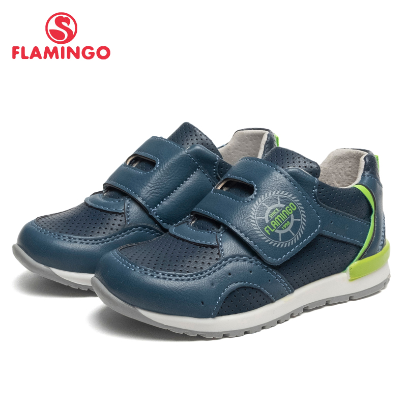 FLAMINGO Brand Leather Insoles Spring& Summer Breathable Children Walking Shoes Size 23-28 Kids Sneaker for Boy 91P-SW-1290 bonjomarisa new brand plus size 33 40 cow leather flower woman shoes high heel women shoes black office summer sandals