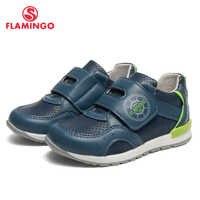 FLAMINGO Marke Leder Einlegesohlen Frühling & Sommer Atmungsaktive Kinder Wanderschuhe Größe 23-28 Kinder Sneaker für Jungen 91P-SW-1290
