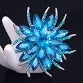 Ювелирные Изделия 8 Цвет Кристалл Акриловые Броши Булавки Бренд Старинные Свадебные Броши Букет Цветов Для Женщин Ткань Аксессуары