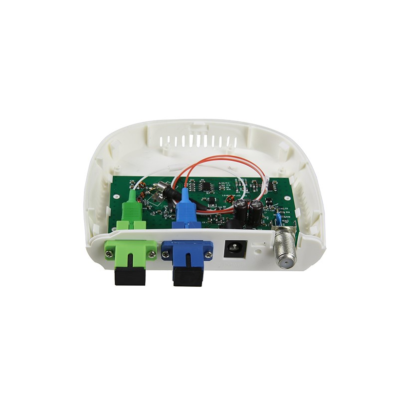 Image 4 - Fiber Optical FTTH optical receiver SC/APC SC/UPC with WDM and AGC Mini Node Indoor Optical Receiver with white plastic case-in Fiber Optic Equipments from Cellphones & Telecommunications