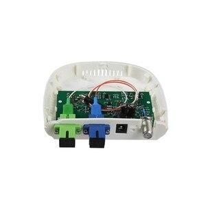 Image 2 - 繊維光学 ftth 光受信機 SC/APC SC/UPC と WDM と AGC ミニノード室内光受信機白プラスチックケース