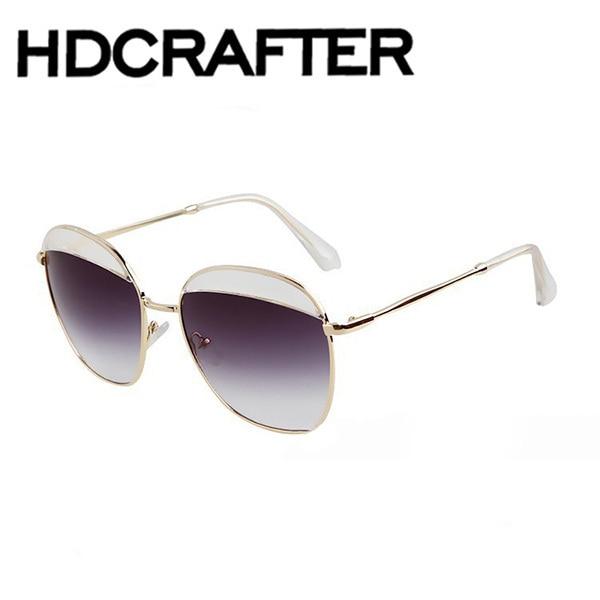 cc476aa5e8c7 Sunglasses Women French brand Design oculos De Sol Vintage Sun glasses  Female Rivet Shades