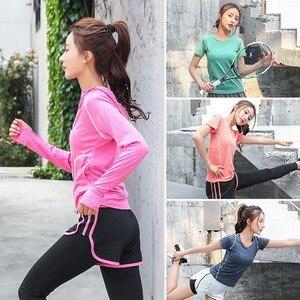 Image 5 - Женская спортивная одежда, комплект одежды для йоги, тренажерного зала, фитнеса, бега, бега на открытом воздухе, тренировочный Быстросохнущий комбинезон