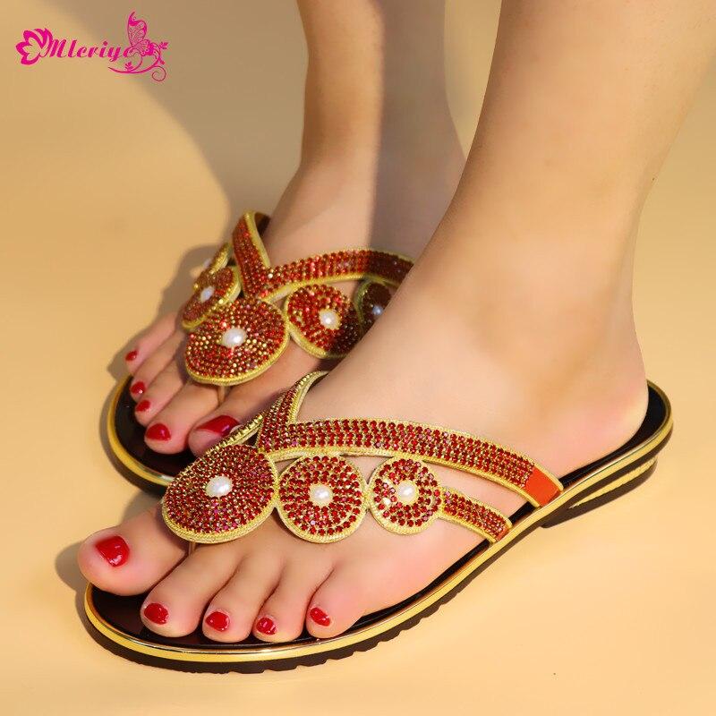 Sandalias Imitación Boda Azul Nueva Zapatos plata Con Llegada Decorado Mujeres 2018 Las Femininas rojo De oro Los Resbalón Rasteiras Diamantes Para En Italiano vwwAPfqCg