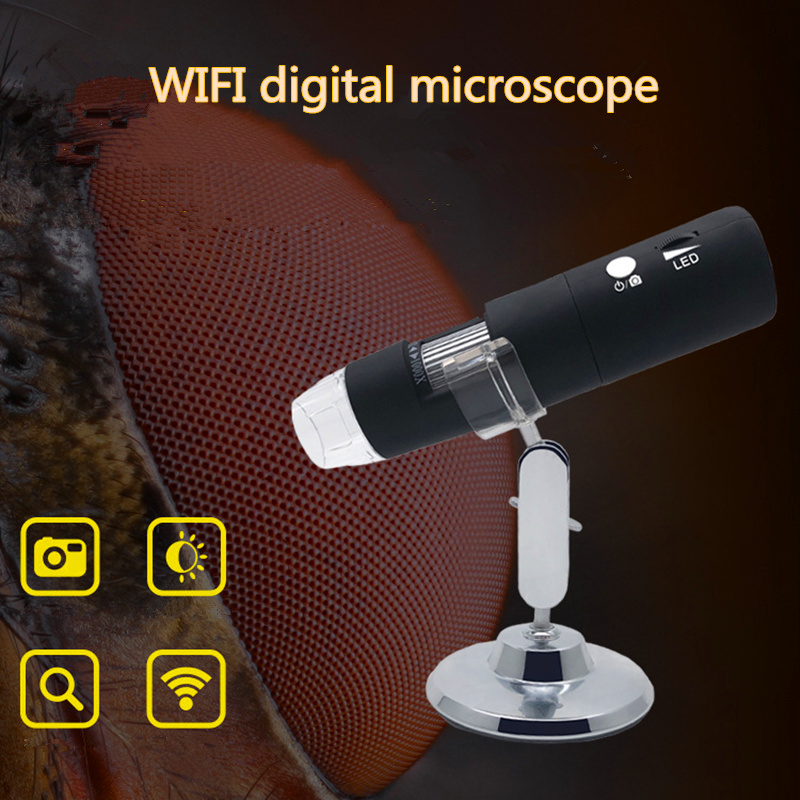 WIFI Magnifier Jewelry and Jade 1000 Times Skin Hair Cell Phone Microscope ENT Examination Video Microscope PCB Electronics цена