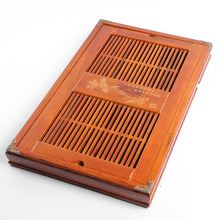 New,Chinese wooden tea tray,Kung fu trivets,drain drawer,tea desk,for black oolong tea,tieguanyin,puer tea sale,Yunnan Puer,cha(China)