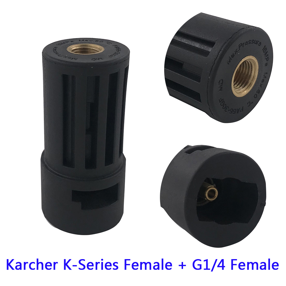 Image 2 - High Pressure Washer Connector Adapter for Connecting AR/Interskol/Lavor/Bosche/Huter/M22 Lance to Karcher Gun Female Bayonet-in Water Gun & Snow Foam Lance from Automobiles & Motorcycles